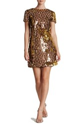 Dress The Population Women's 'Ellen' Sequin Sheath Chocolate Gold