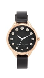 Marc Jacobs The Betty Watch Rose Gold Black