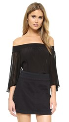 Alice Olivia Elina Off Shoulder Blouse Black