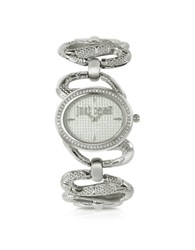 Just Cavalli Sinuous Silver Dial Bracelet Watch