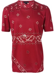 Burberry Prorsum Bandana Print T Shirt Red