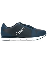 Calvin Klein Jeans Trainers Men Cotton Synthetic Resin Rubber 46 Blue