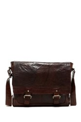 Jack Georges Spikes And Sparrow Leather Messenger Bag Brown