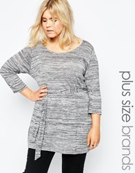 New Look Inspire Belted Tunic Grey