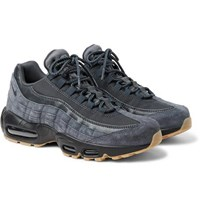 Nike Air Max 95 Se Mesh Leather And Suede Sneakers Navy