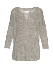 Velvet By Graham And Spencer Genesis Linen T Shirt Grey