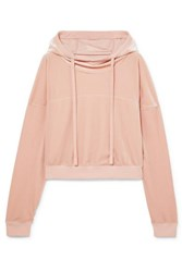 Alo Yoga Velour Hoodie Baby Pink