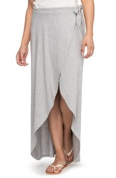 Roxy 'S Everlasting Afternoon Long Wrap Skirt Heritage Heather