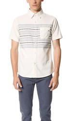 Sol Angeles Ikat Short Sleeve Shirt Off White