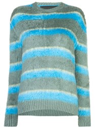Marc Jacobs Long Sleeve Knitted Jumper Green