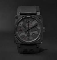 Bell And Ross Br 03 92 Black Camo 42Mm Ceramic Rubber Watch Black