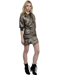 Isabel Marant Printed Silk Georgette Lurex Dress