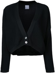 Cityshop Oversized Long Sleeve Ribbed Cardigan Black