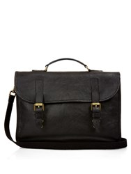 Mulberry Elkington Grained Leather Briefcase Black