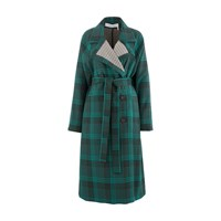 See By Chloe Double Faced Coat Multicolor Green 1