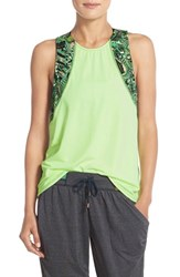Women's Maaji 'Ginger Waterfalls' Tank And Sports Bra Bright Green