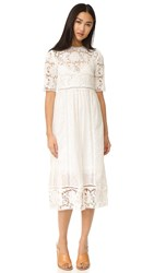 Zimmermann Caravan Embroidered Day Dress Ivory