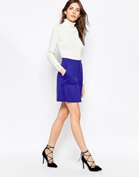 French Connection Marie Stretch Mini Skirt Prince Rocks Blue