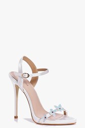 Boohoo Bridal Butterfly Trim Two Part Sandals Blue