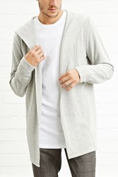 Forever 21 Open Front Hooded Cardigan