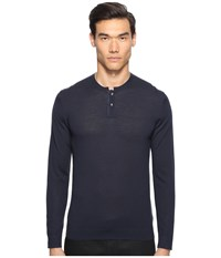 The Kooples Lightweight Merino Henley Blue