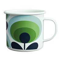 Orla Kiely 70S Flower Enamel Mug Apple