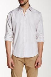 Lorenzo Uomo Striped Modern Fit Shirt White