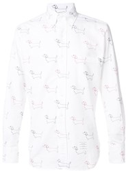 Thom Browne Dog Print Shirt White