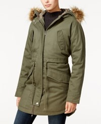 Sanctuary Kara Faux Fur Trim Hooded Parka Military