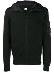 C.P. Company Cp Knitted Hooded Jacket Black