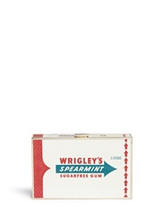 Anya Hindmarch 'Wrigley's Imperial' Print Python Skin Clutch Multi Colour Animal Print