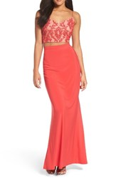 Adrianna Papell Women's Two Piece Gown