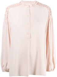 8Pm Ruffled Blouse Pink
