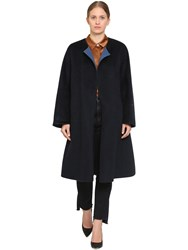 Marina Rinaldi Tappa Wool Blend Coat Blue