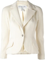 Christian Dior Vintage Fitted Bouche Jacket Nude Neutrals