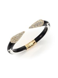 Alexis Bittar Titan Lucite And Crystal Cuff Bracelet Black