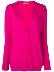 Odeeh Concealed Button Cardigan Pink