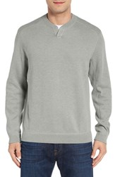 Tommy Bahama Men's 'New Flip Side Pro Abaco' Reversible Sweater Carbon Grey Heather