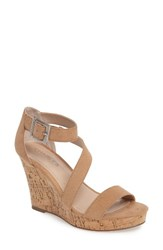 Charles By Charles David Women's Leanna Strappy Platform Wedge Sandal Nude