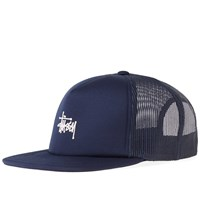 Stussy Puff Print Stock Trucker Cap Blue