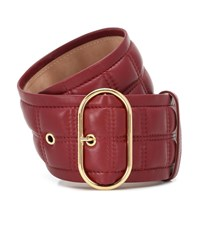 Acne Studios Quilted Leather Belt Red