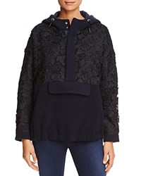 Scotch And Soda Lace Panel Hooded Anorak Combo A