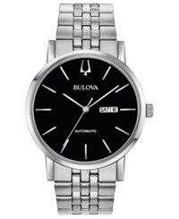 Bulova Men's Automatic American Clipper Stainless Steel Bracelet Watch 42Mm No Color
