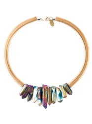 Katerina Psoma Multi Stone Stiff Necklace