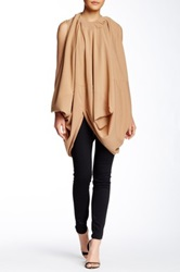 Gracia Draped Tunic Dress Brown