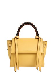 Elena Ghisellini Mini Angel Leather Top Handle Bag