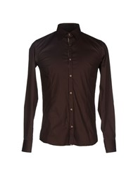 Roberto Pepe Shirts Shirts Men Dark Brown
