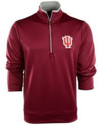 Antigua Men's Indiana Hoosiers Quarter Zip Pullover Cardinal Red Silver
