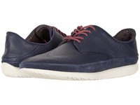 Ugg Cali Wing Toe Derby Navy Leather Shoes Blue