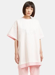 Vetements Hanes Galeries Lafayette Oversized Double T Shirt Pink